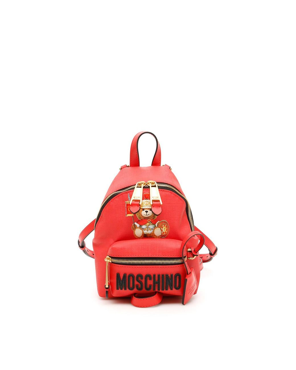 fa4cd4aea6 Moschino Roman Teddy Bear Mini Backpack in Red - Save 22% - Lyst