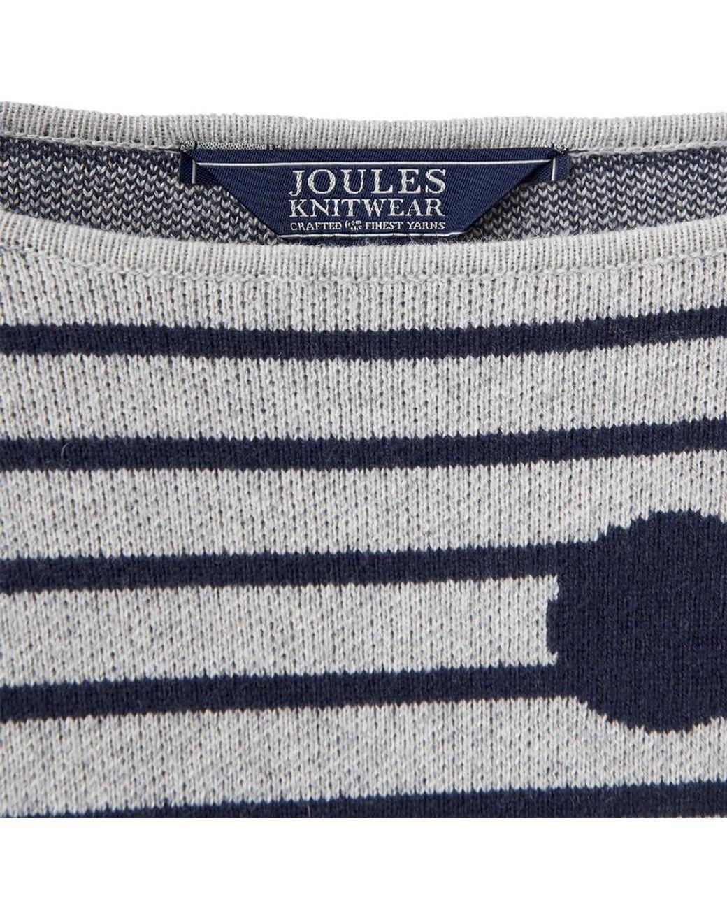 Joules Womens Uma Drop Sleeved Wool Blend Contrast Jumper