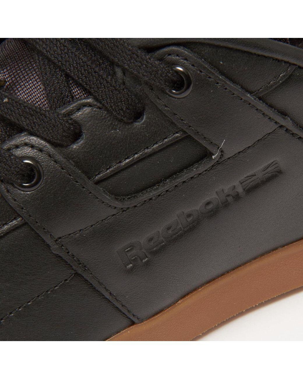 1ef00ac30ef Lyst - Reebok Workout Low Clean Fvs Gum Black Sneakers Bd4766 in Black for  Men