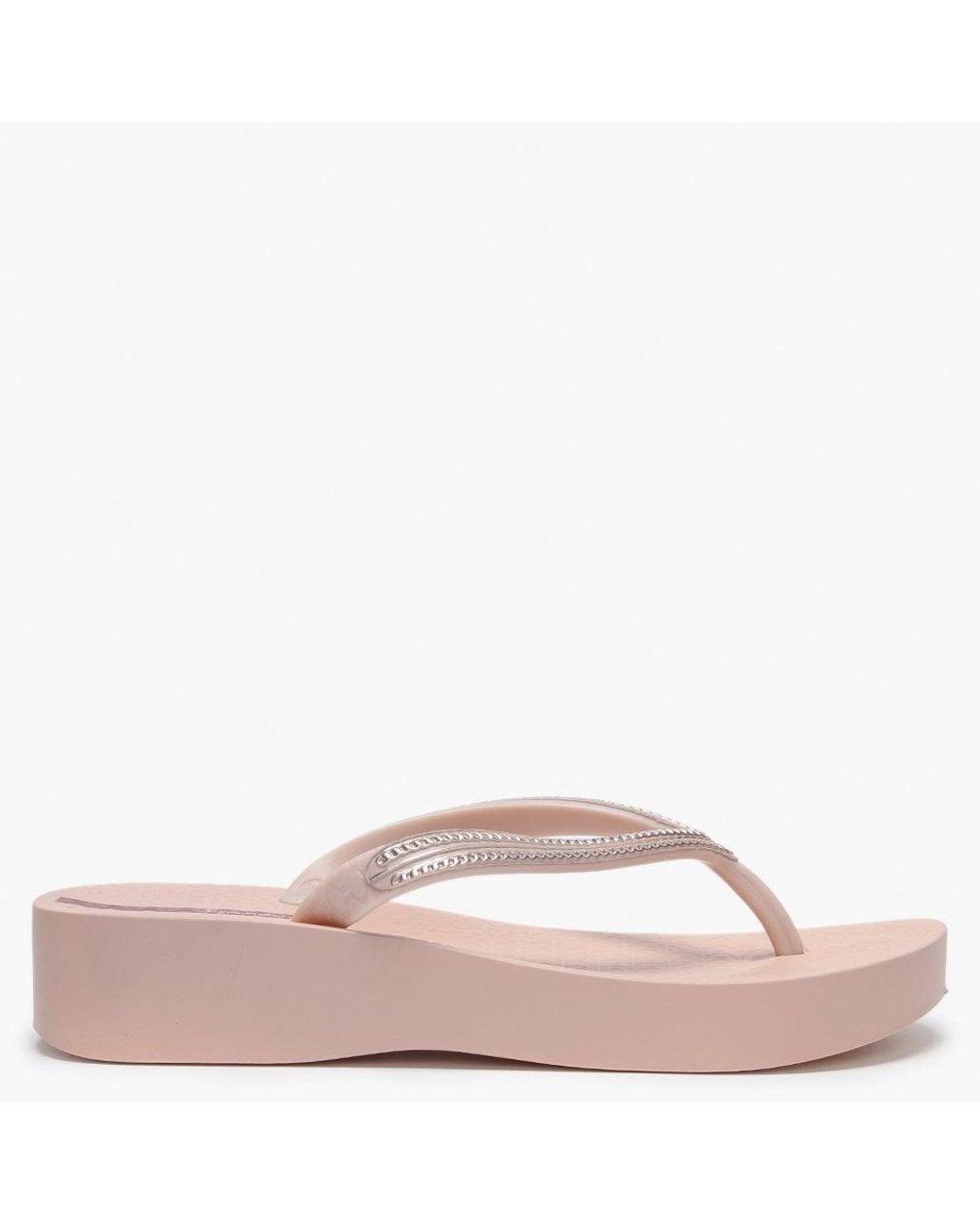 Ipanema MESH WEDGE Womens Ladies Summer Beach Toe Post Sandals Flip Flops Black
