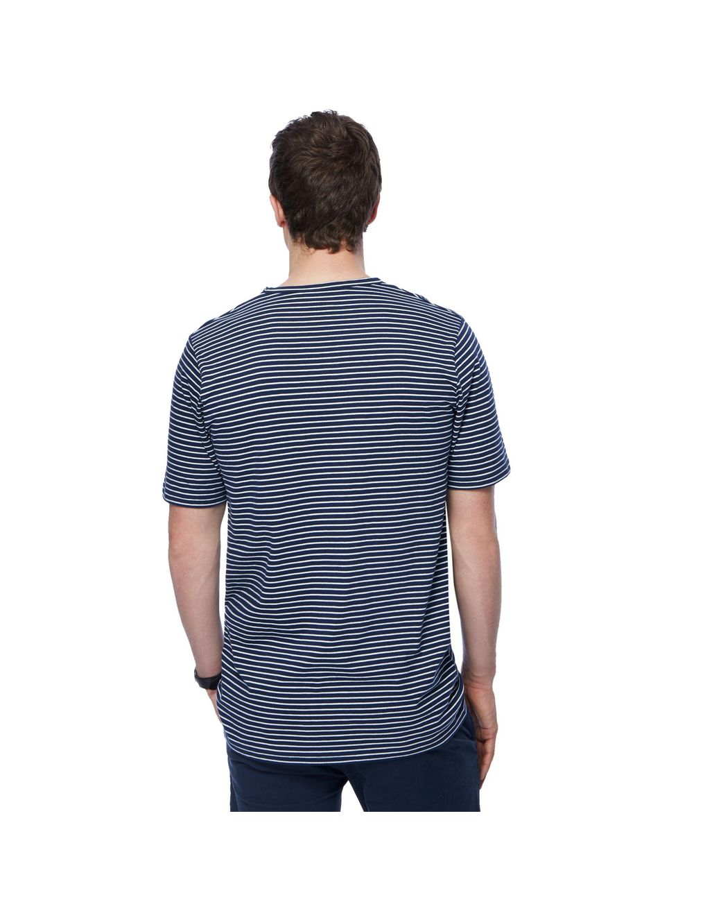 9dc6b235 Jacamo Big And Tall Navy Striped T-shirt in Blue for Men - Lyst