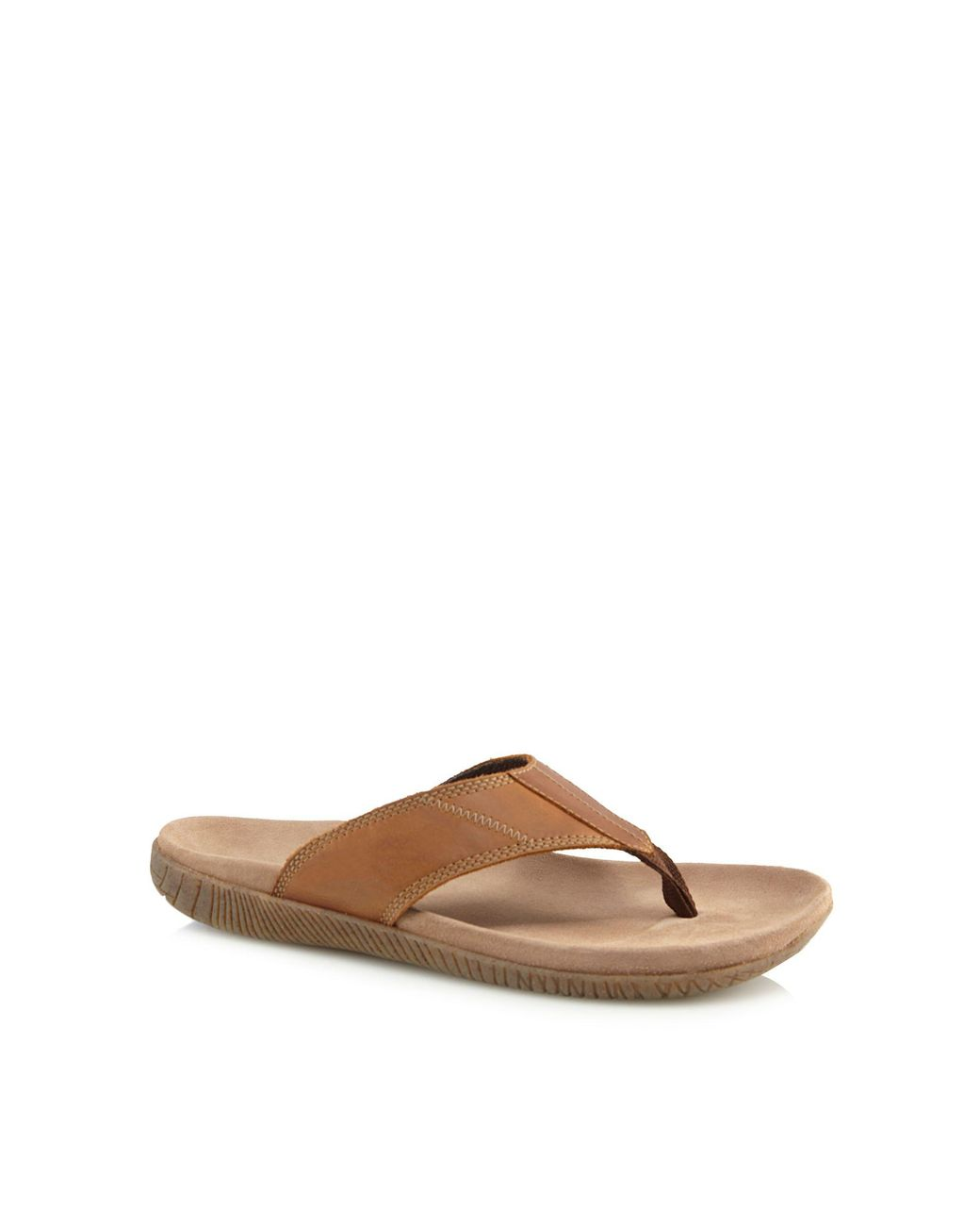 febdaddf672 Hush Puppies Brown Leather  mutt  Flip Flops in Brown for Men - Lyst
