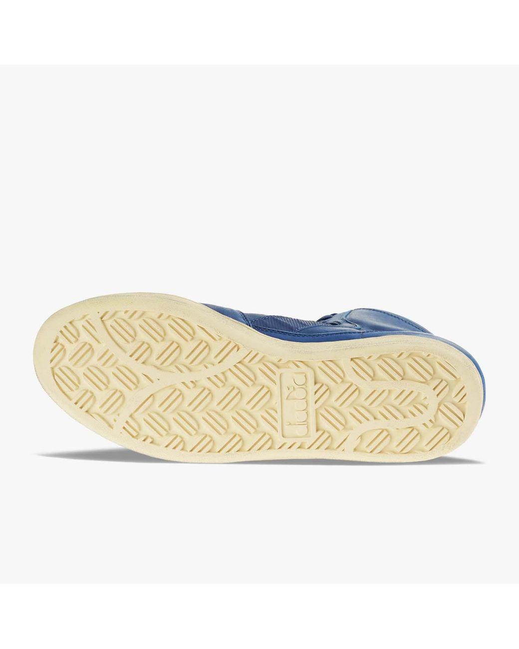 Diadora Mi Basket Used Blue Lyst