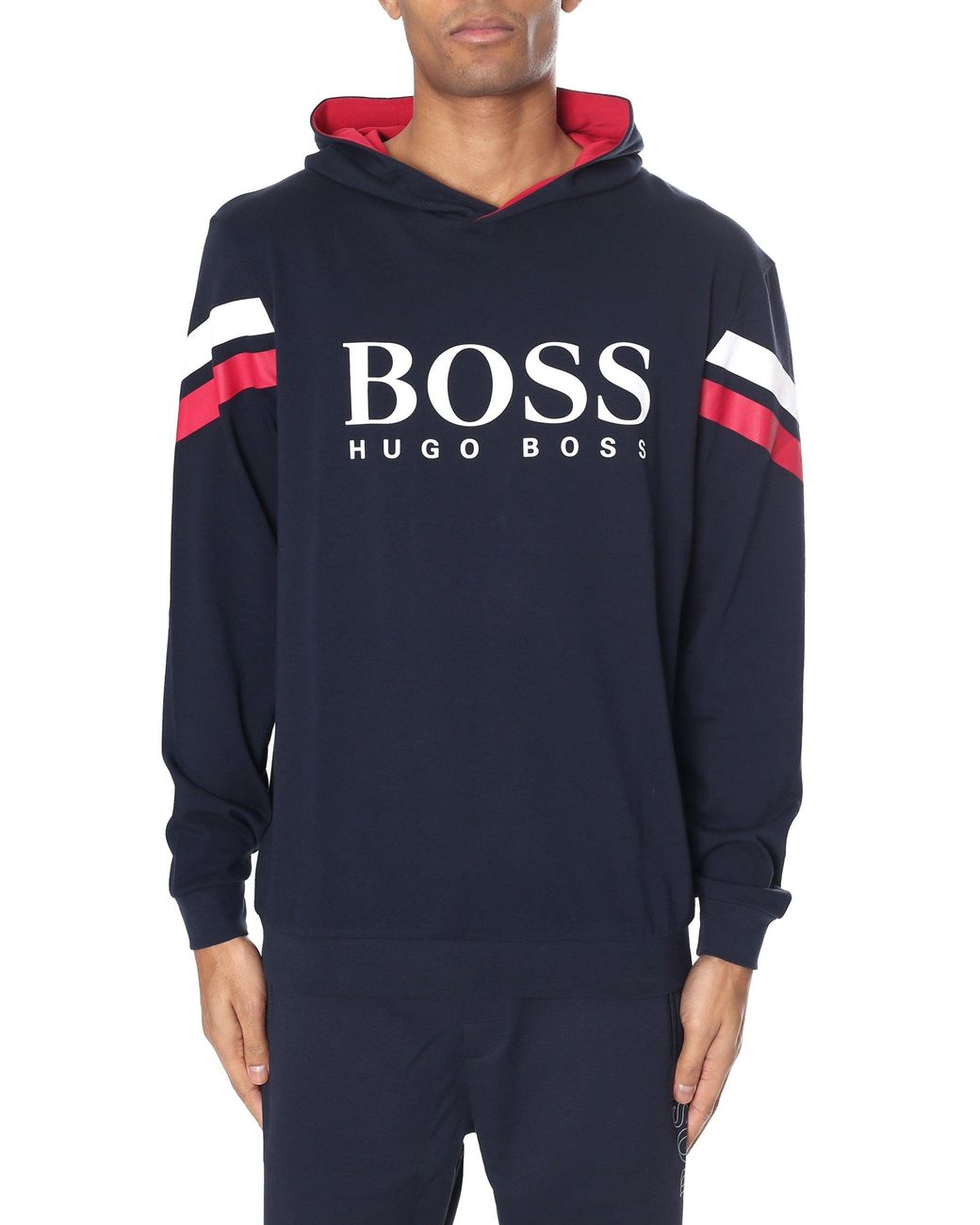 588295627 BOSS by Hugo Boss Authentic Popover Hoodie in Blue for Men - Save 29% - Lyst
