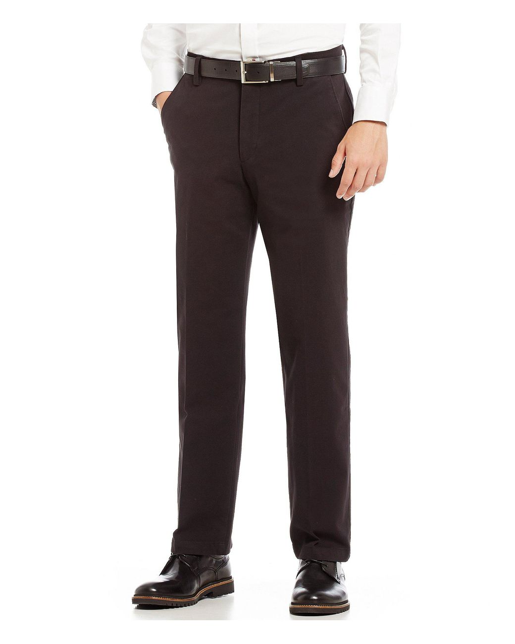 e6e48f775fc043 Dockers Docker's 360 Flex Waistband Refined Straight Fit Chino Flat Front  Pants in Natural for Men - Lyst