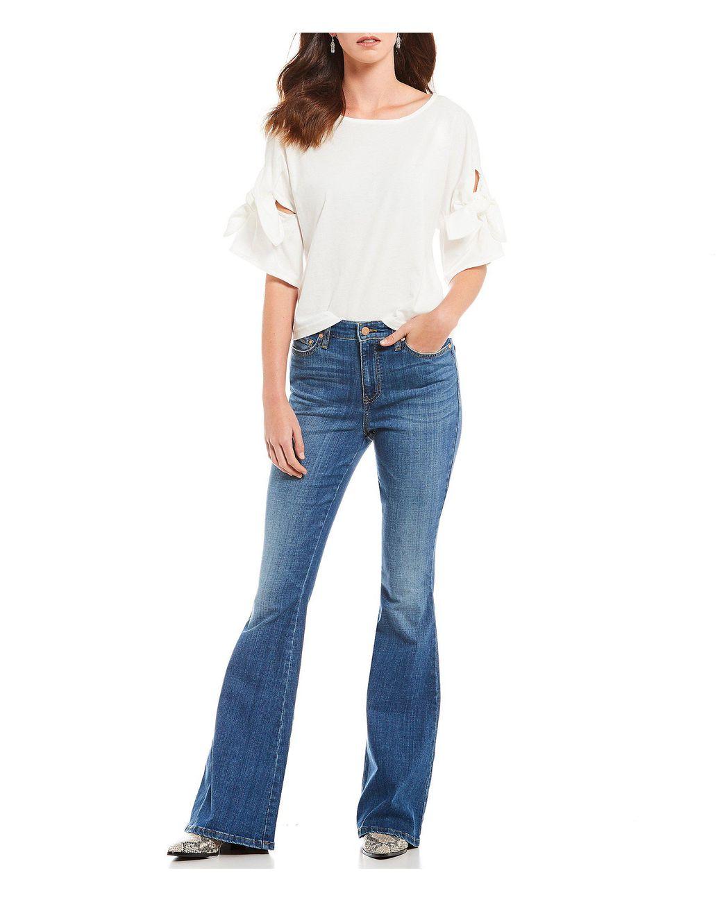 164cf0a5fd1f Ella Moss Naomi High Rise Flare-leg Jeans in Blue - Lyst