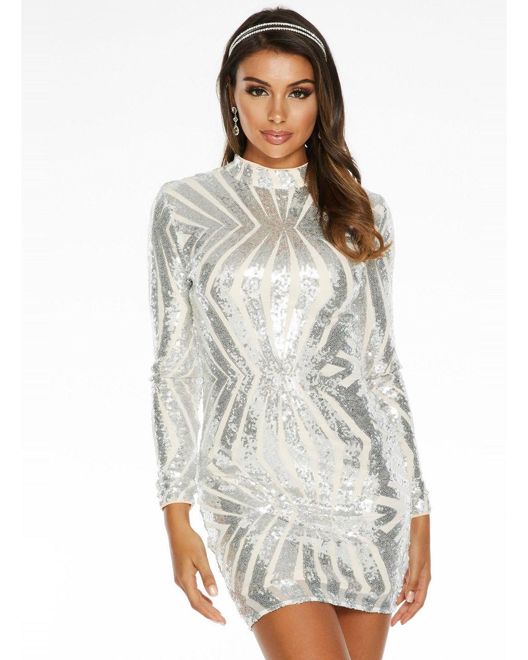silver sequin dress quiz