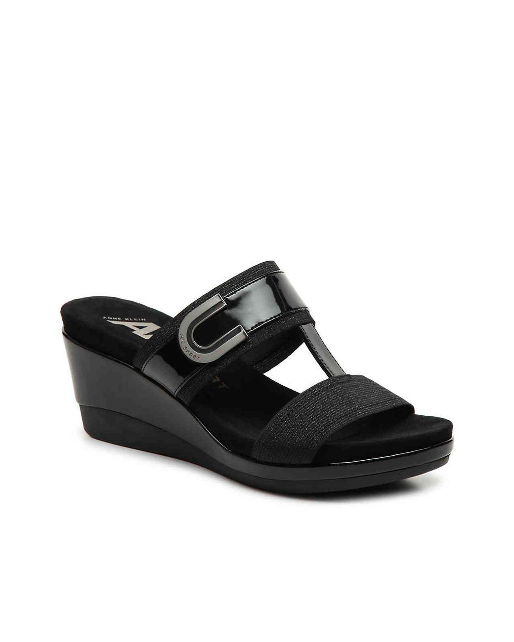 106e88c54fdd Lyst - Anne Klein Sport Pax Wedge Sandal in Black