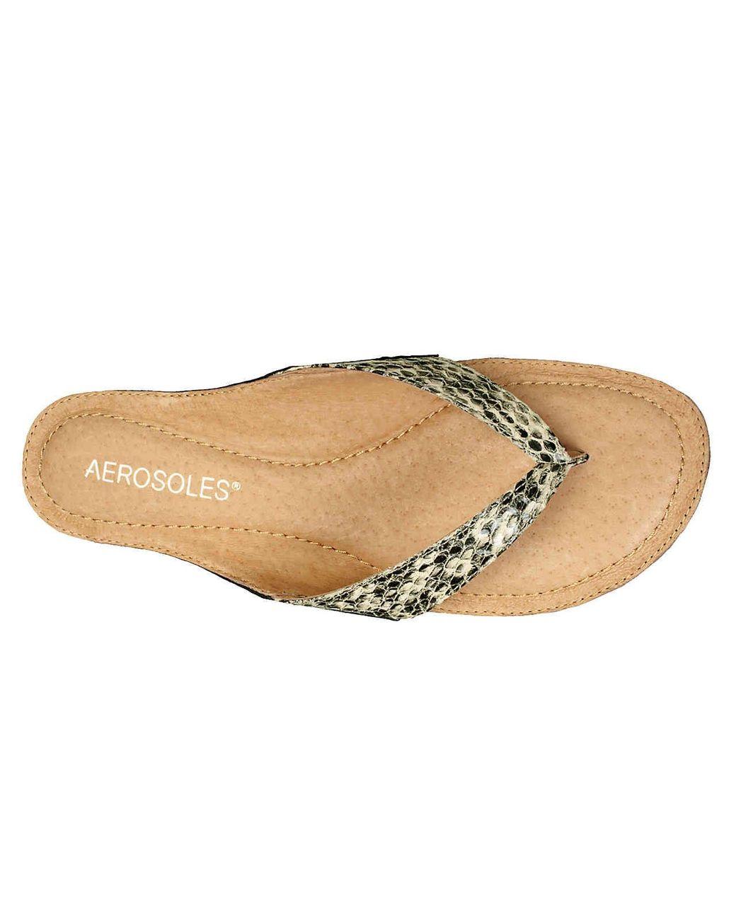 Aerosoles Leather Pocketbook Sandal in