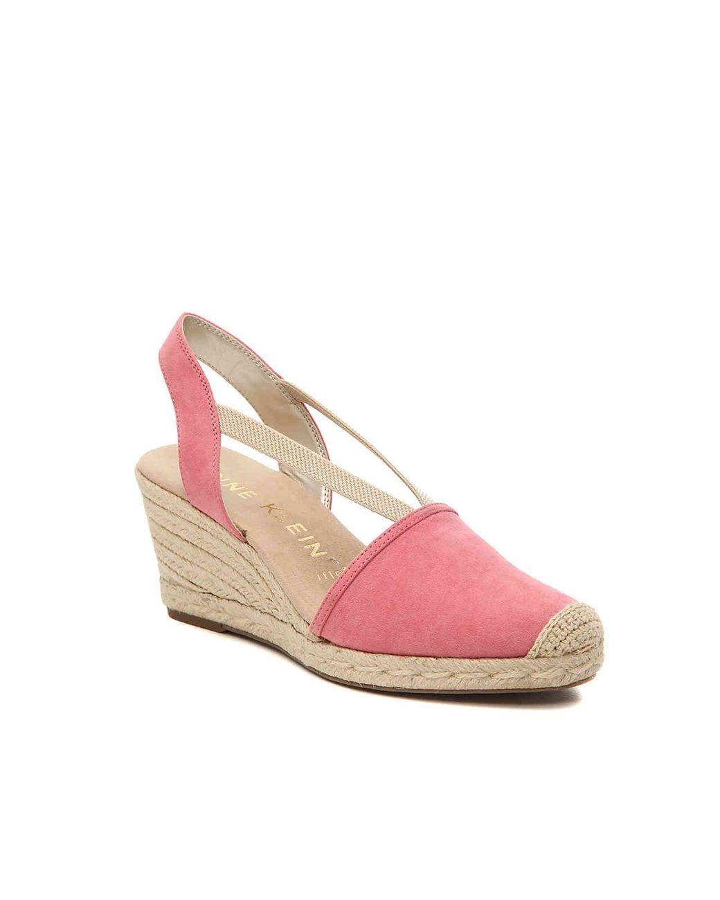 sandal wedge espadrille anne abril klein