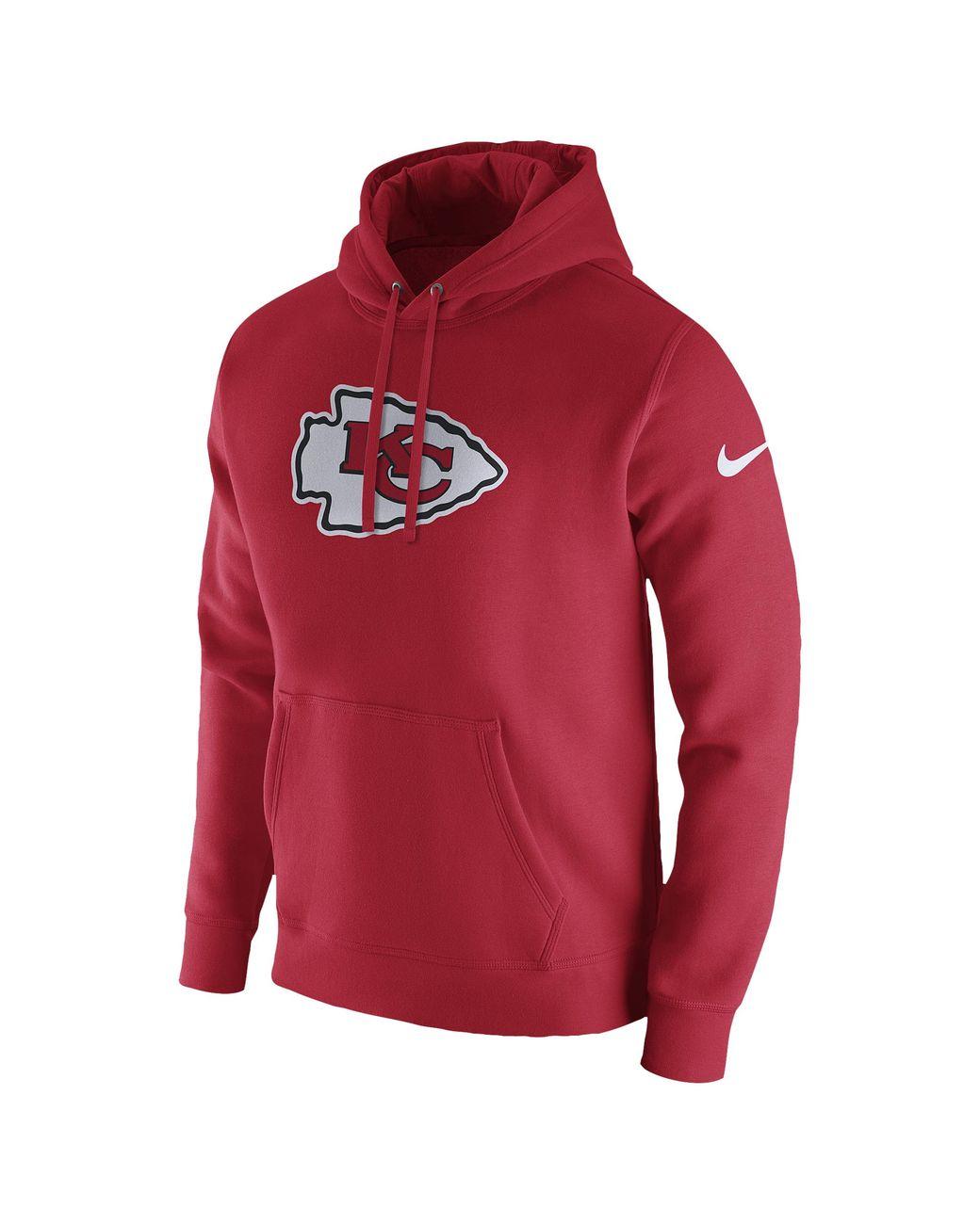 more photos 1a016 95b9d Nike Kansas City Chiefs Nfl Pullover Fleece Club Hoodie in ...