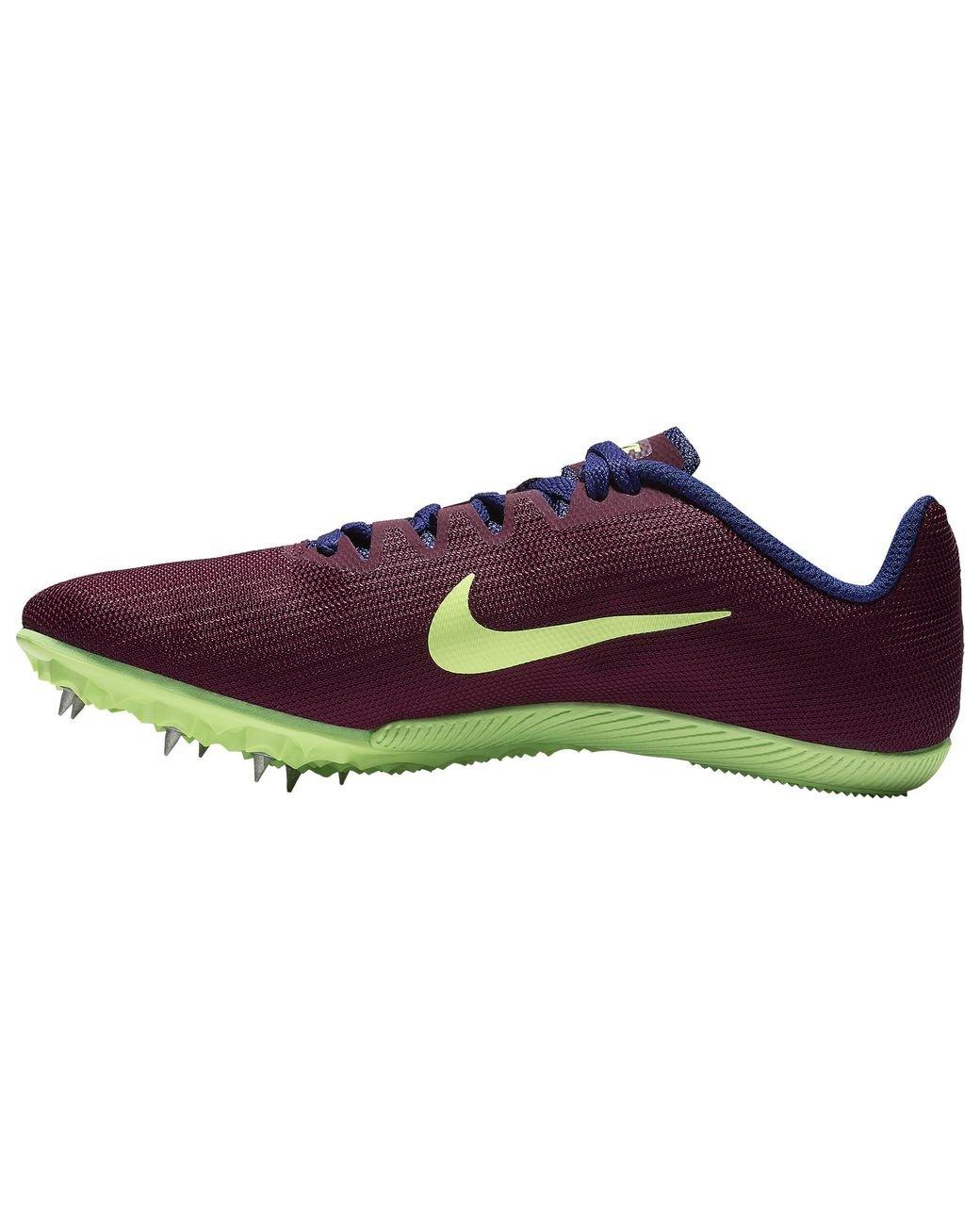 Nike Zoom Rival M 9 Track Spike Schuhe Damen Bordeaux