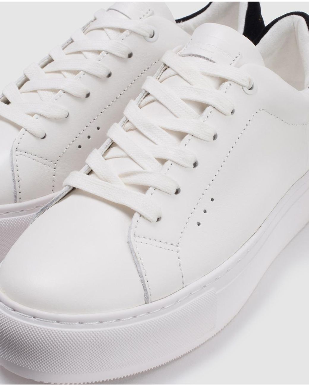 kurt geiger white platform trainers
