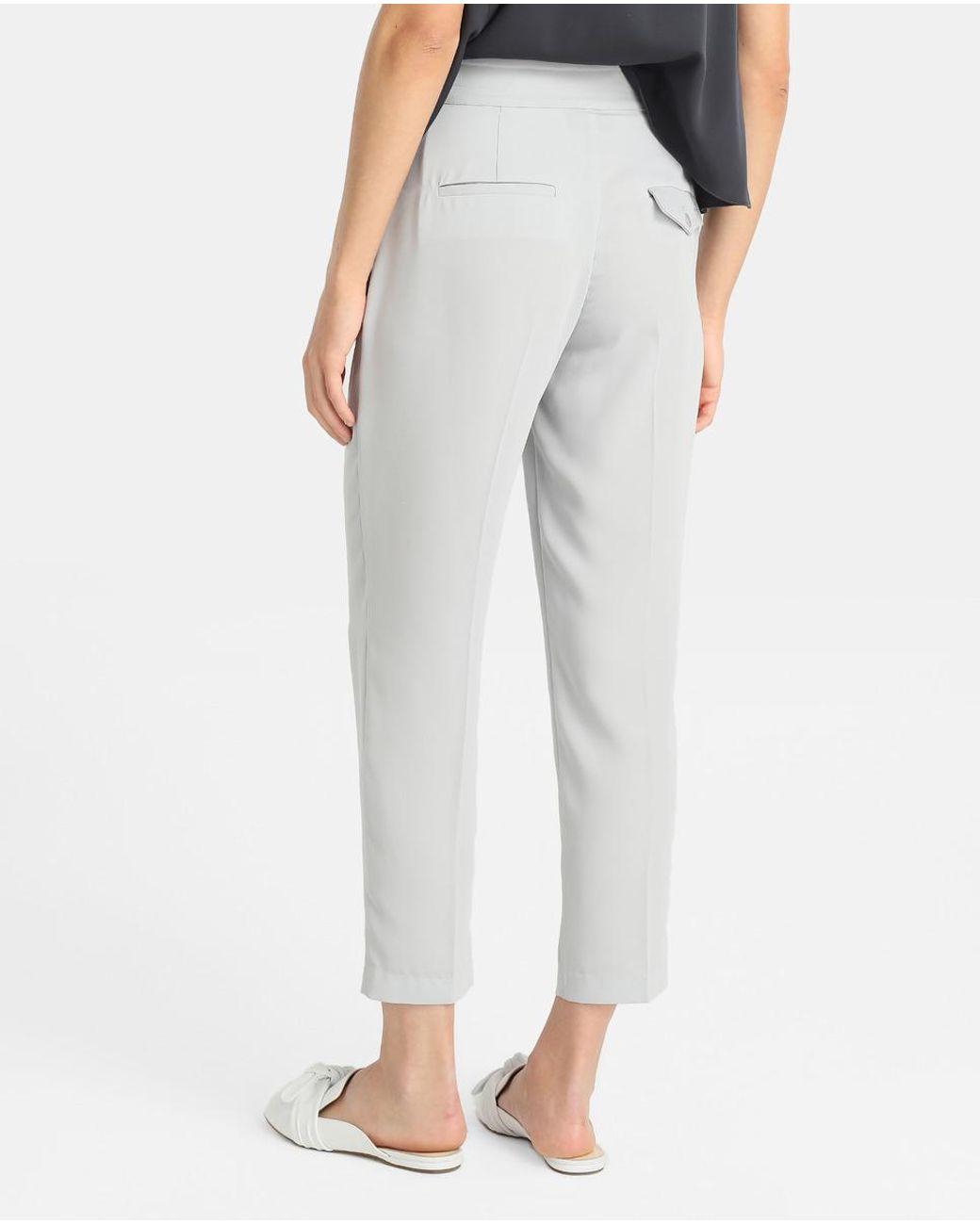 Pantalones Woznx08npk para grises Mujer perla mujer gris Cigarrillo lKcFJ1