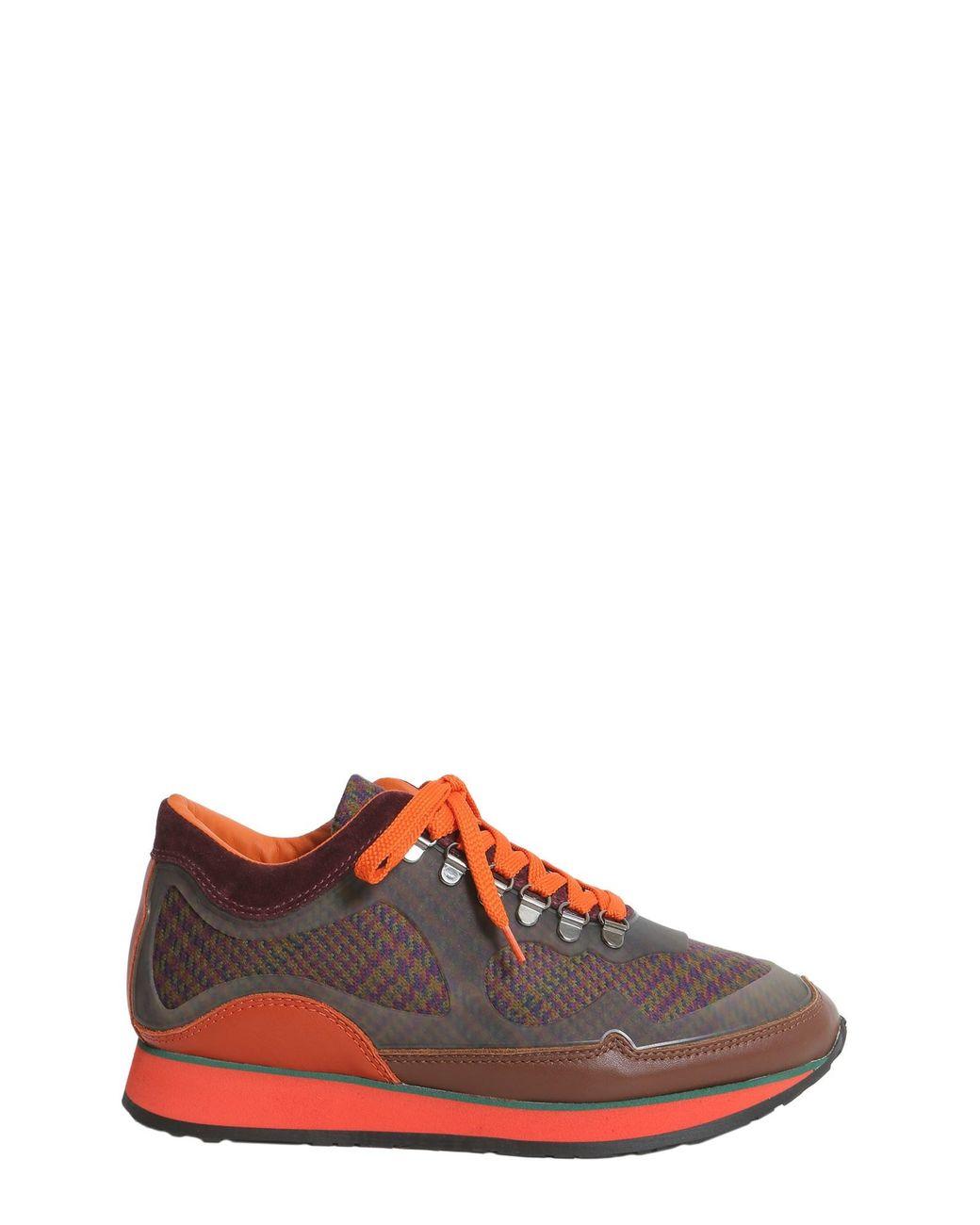 Etro Sneaker In Pelle E Tessuto Con Fondo Running for Men