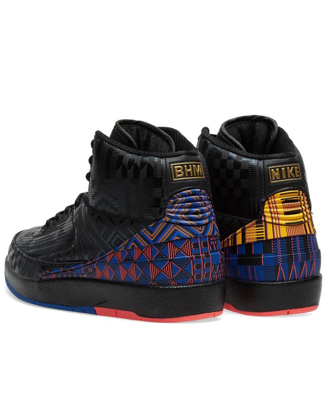 info for a7a70 1a96d Men's Black Air Jordan 2 Retro Bhm
