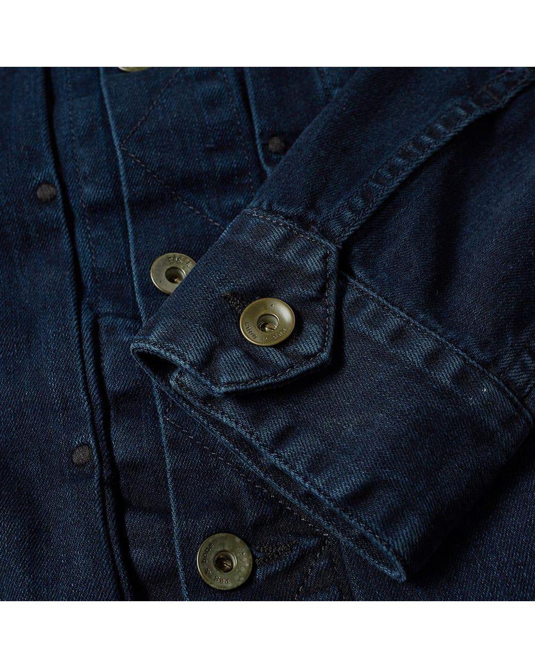 f0d877fe38f9e0 Lyst - Rag   Bone Denim Jacket in Blue for Men - Save 53%