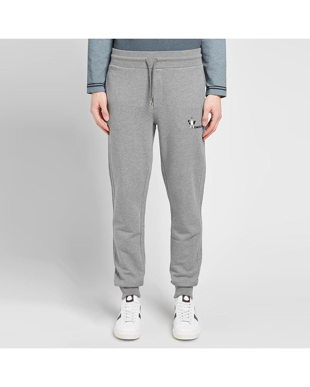 b852a3152 Moncler Logo Jersey Jogger in Gray for Men - Lyst