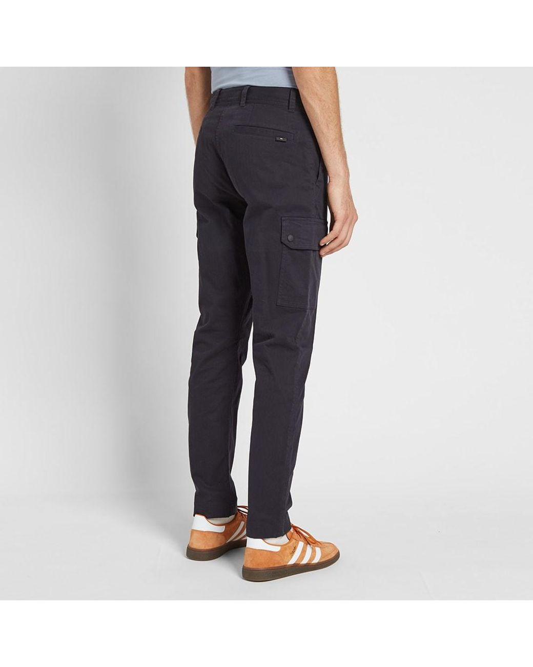 first look great look new york Paul Smith Herringbone Cargo Pant in Blue for Men - Lyst