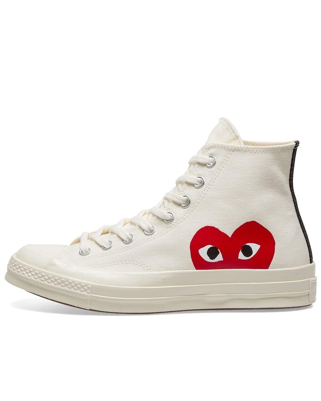 Comme des Garcons PLAY x Converse Chuck Taylor White Foxing For Sale