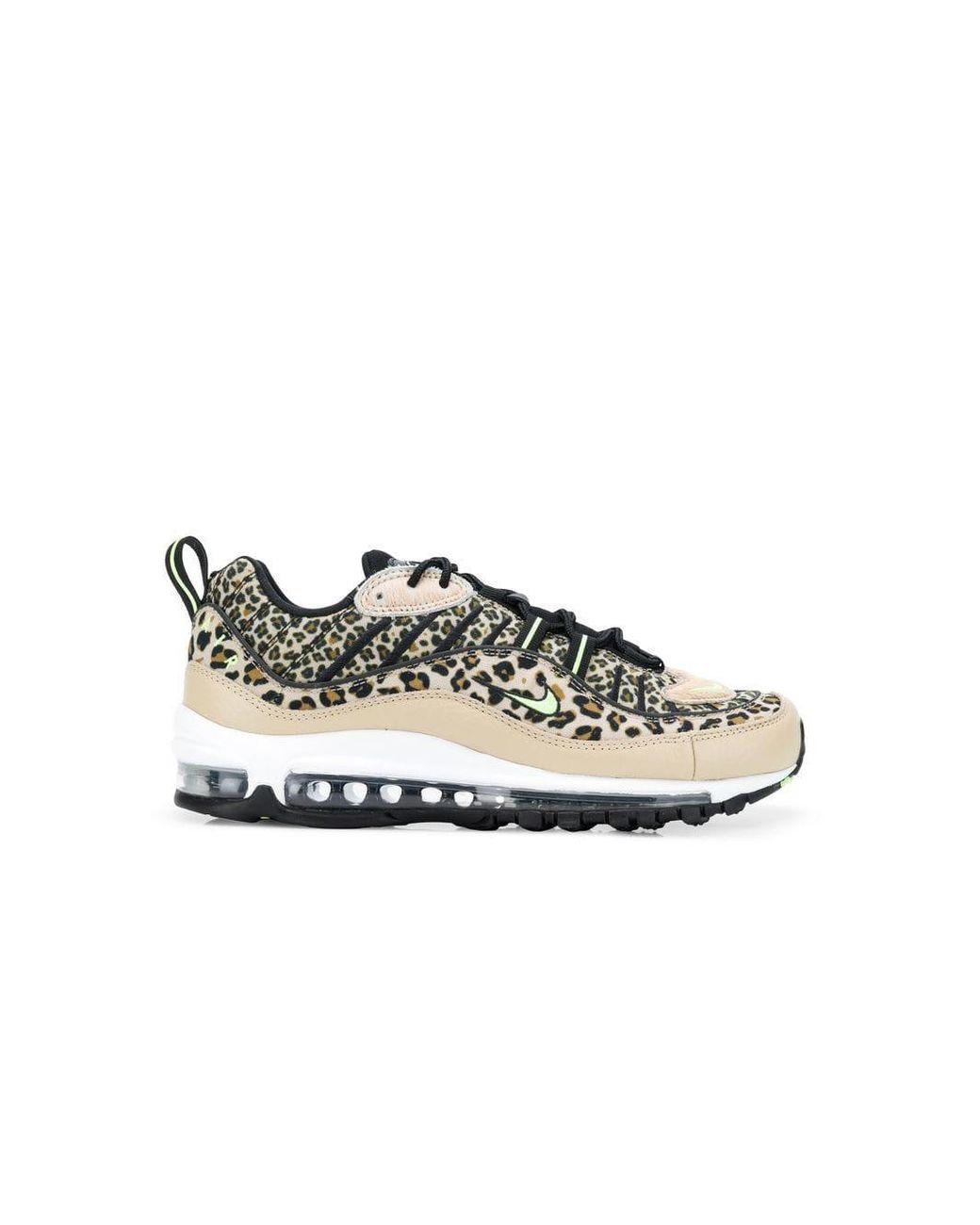 ed02780715ec Nike Air Max 98 Leopard Print Sneakers in Brown - Save 2% - Lyst