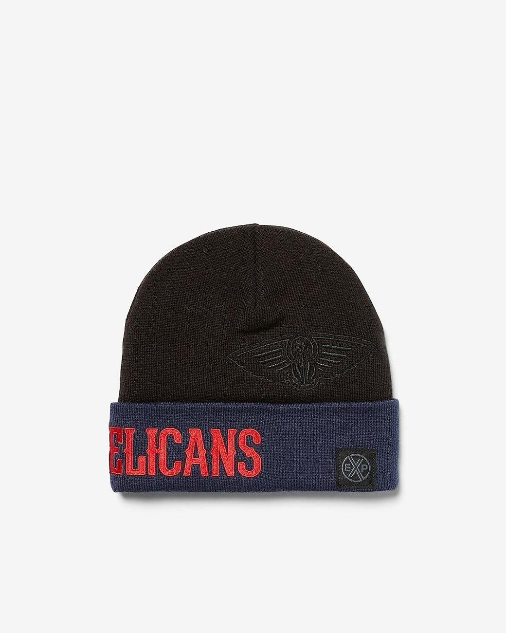 Men S New Orleans Pelicans Nba Beanie Black