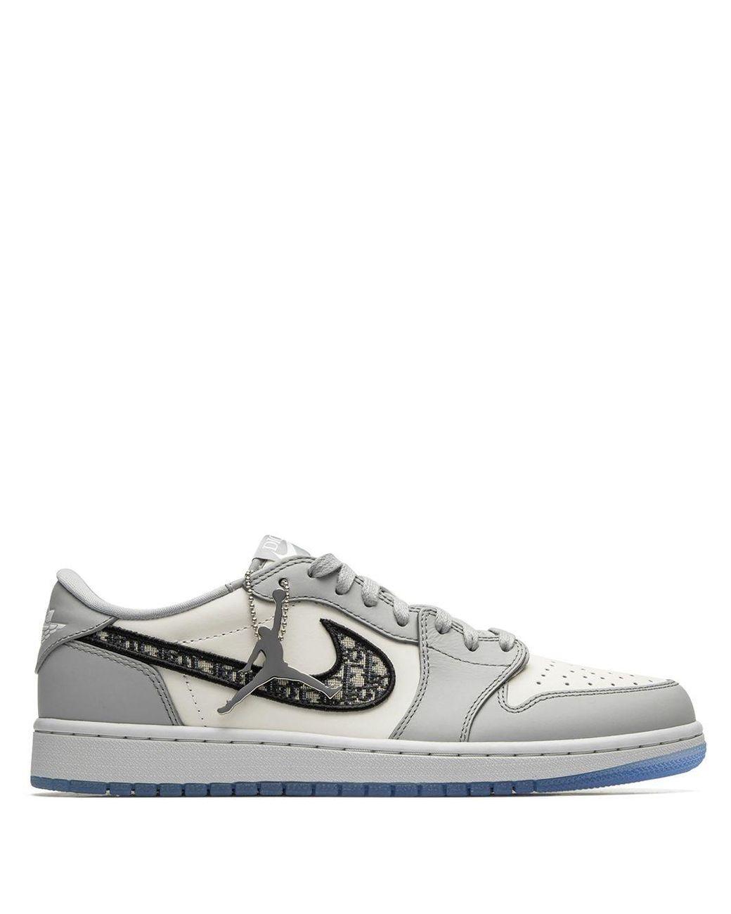 X Dior baskets Air 1 Cuir Nike pour homme en coloris Gris - Lyst