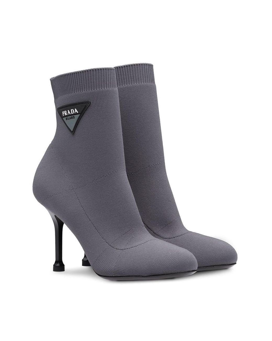c95ad7b99ac Women's Gray Logo 90 Sock Booties