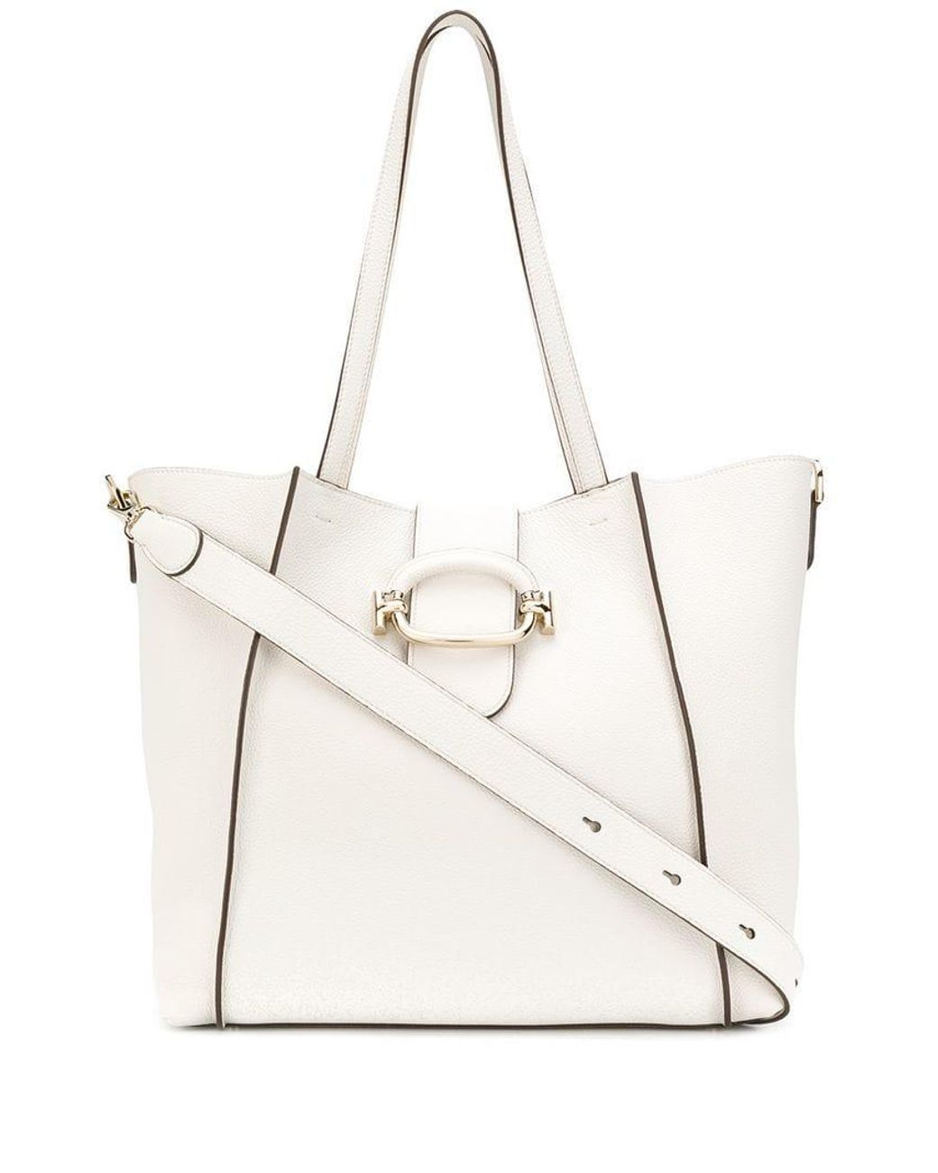 ad00cd2cfb5 Lyst - Tod's Double T Shopping Bag in White