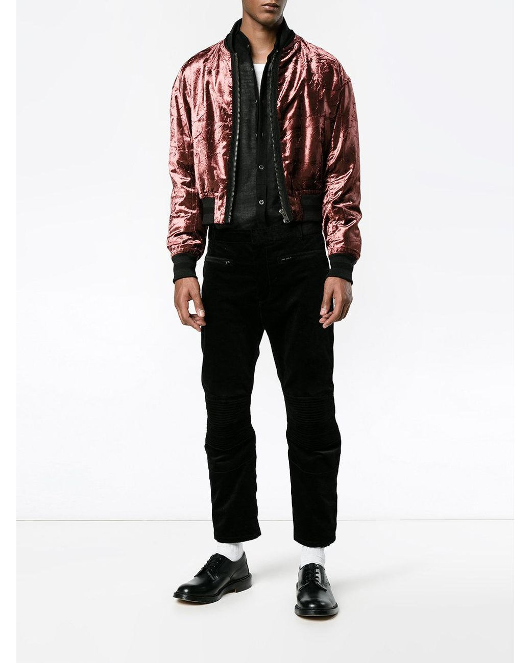 a6809acbc Men's Red Tiziano Bomber Jacket