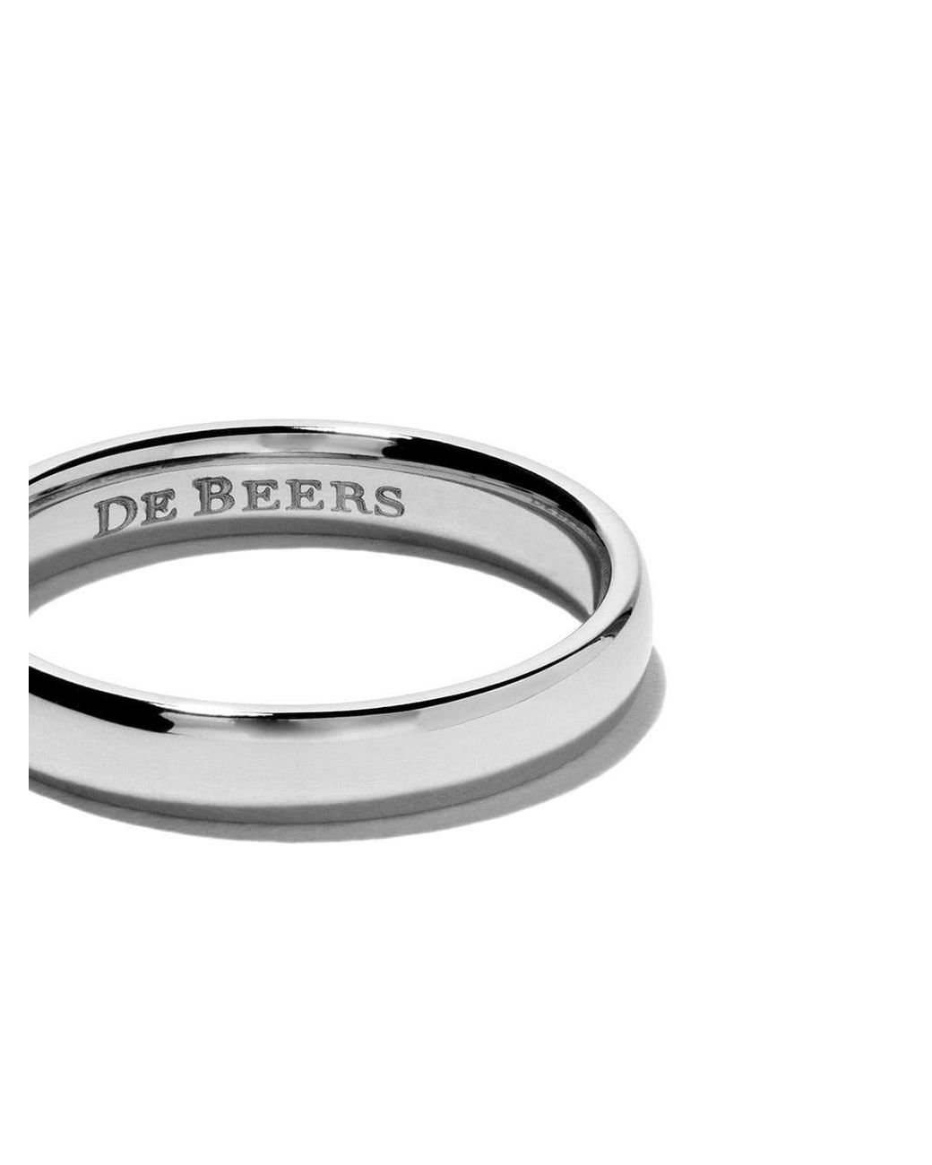 De Beers Platinum Forever Diamond Band Lyst
