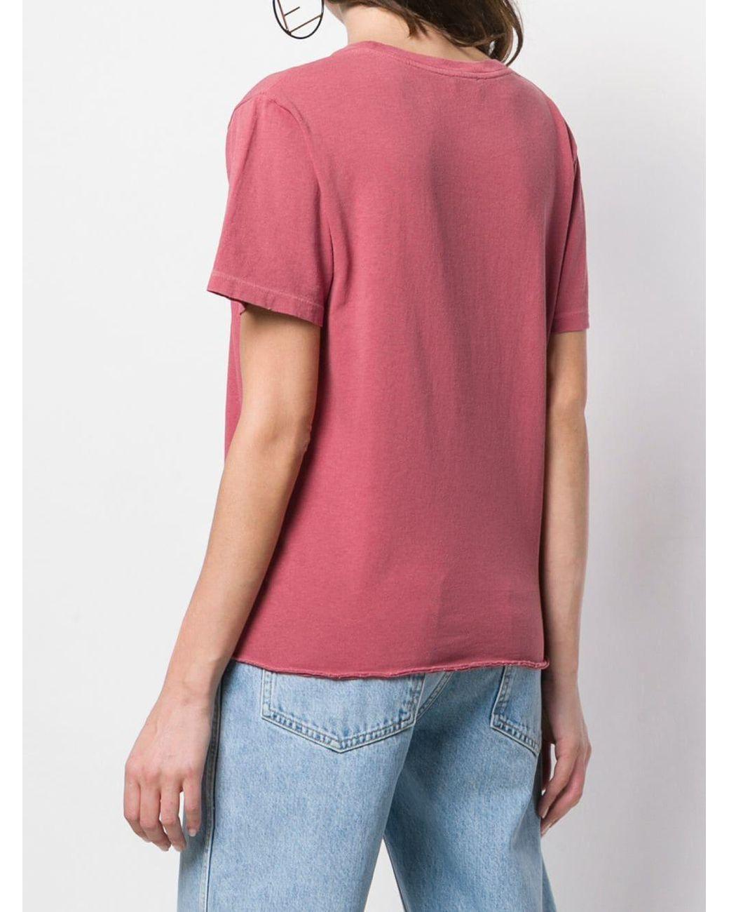 Love Moschino brodé Rose Logo T-shirt noir rare