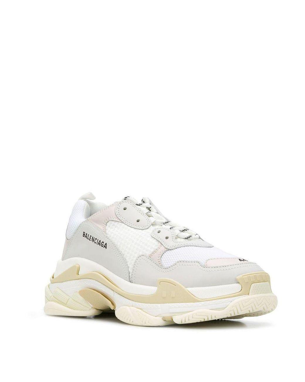Favor Salida Desventaja  Zapatillas Triple S Balenciaga de Tejido sintético de color Blanco para  hombre - Lyst
