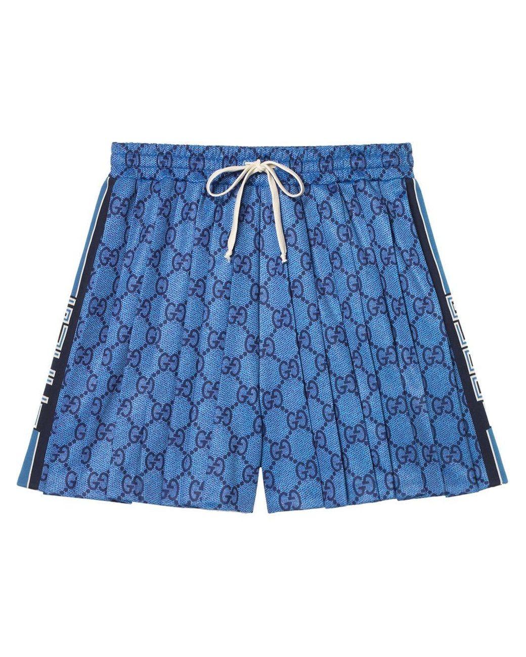 135b0605 Women's Blue GG Technical Jersey Shorts