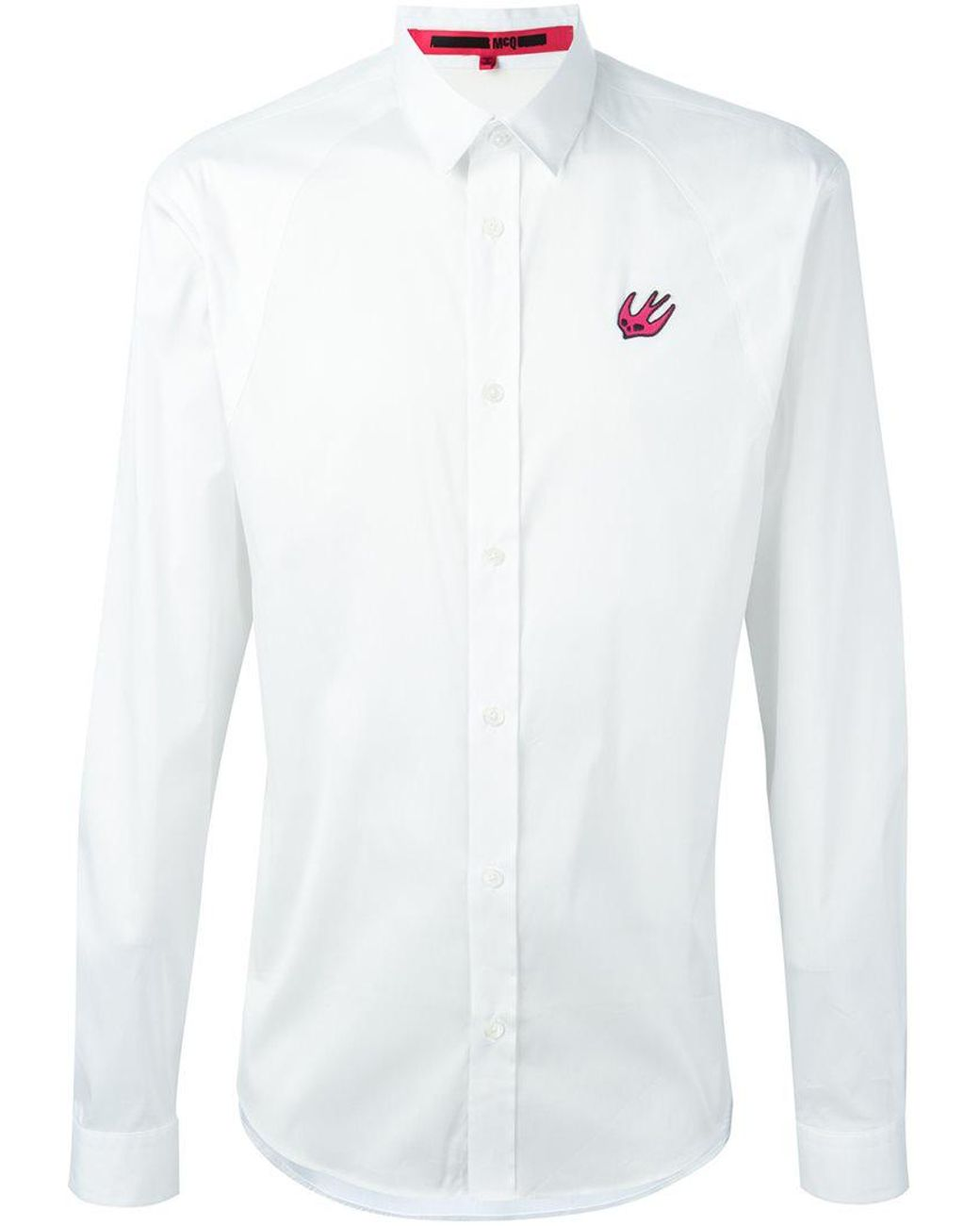 bddd3f6e0a McQ 'swallow Harness' Shirt in White for Men - Lyst