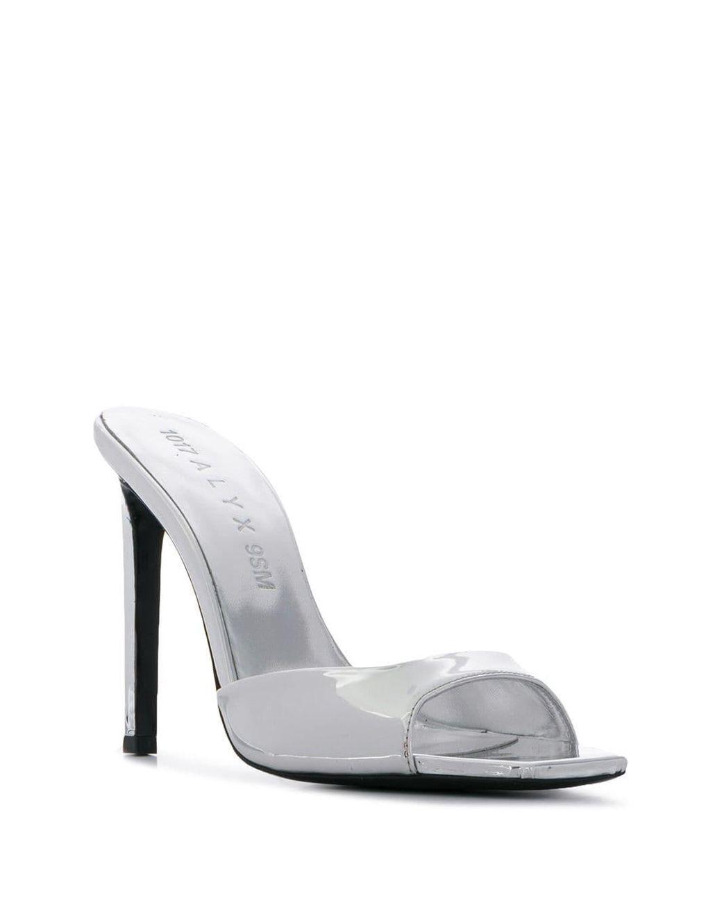 1017 Pn0wok 9sm Lyst Sandals Metallic Black High In Alyx SGzMpUqV