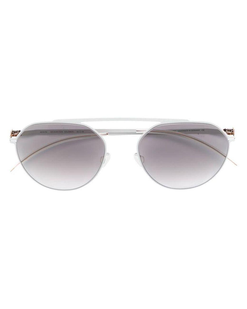 beb66648fe9f5 Mykita Solomon Round Sunglasses in Gray - Lyst