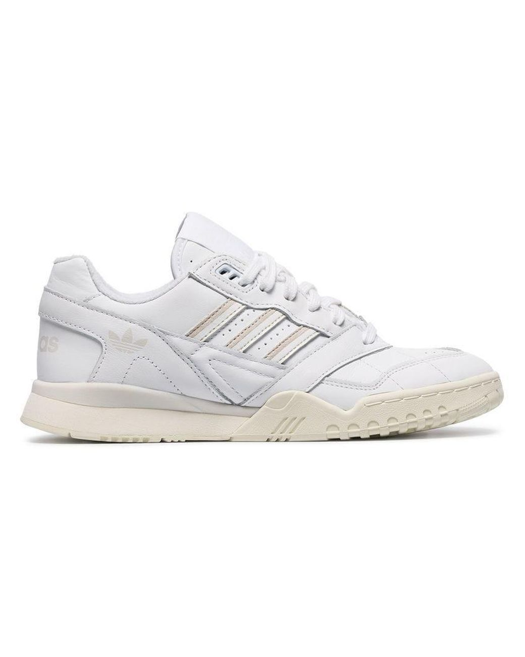 0d88b66454b Lyst - adidas White Chunky Leather Low Top Sneakers in White