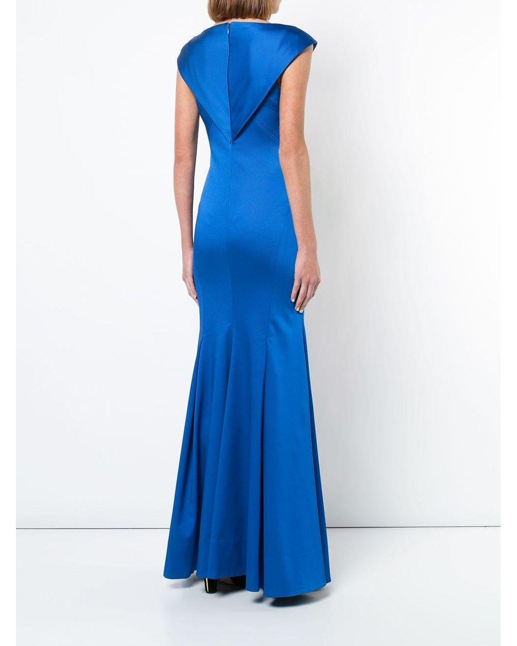 Abiti Da Sera Zac Posen.Zac Zac Posen Synthetic Nina Gown In Blue Lyst