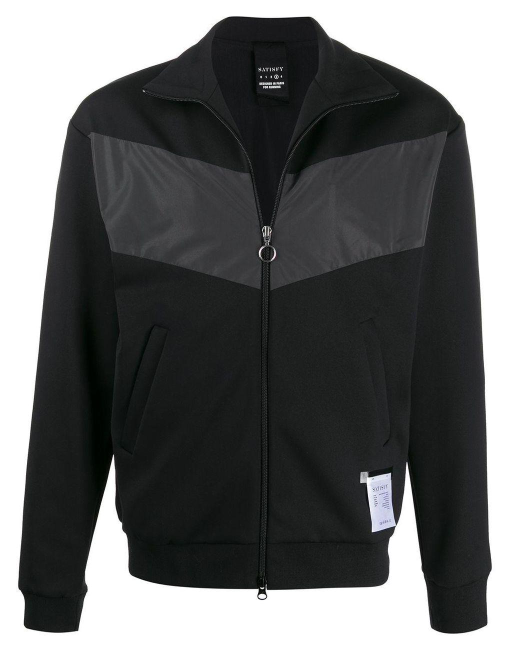 Encogimiento Asimilación Turismo  Satisfy Synthetic Shell-trimmed Tecnospacer Zip-up Jacket in Black for Men  - Save 54% - Lyst