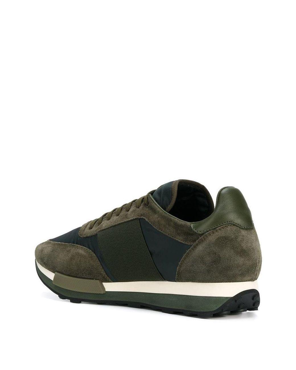 Moncler Wildleder 'Horace' Sneakers in Grün für Herren Lyst