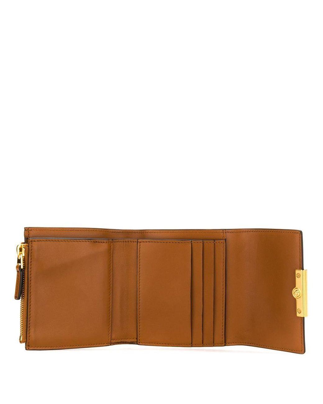 Tommy HILFIGER Smooth Leather Zip Around Portafoglio Wallet Cognac Marrone Nuovo