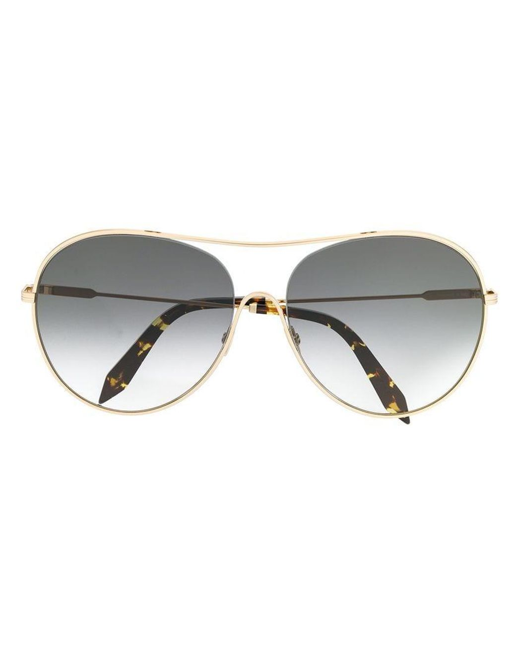 b39fde37a50b Lyst - Victoria Beckham Round Shaped Sunglasses in Metallic