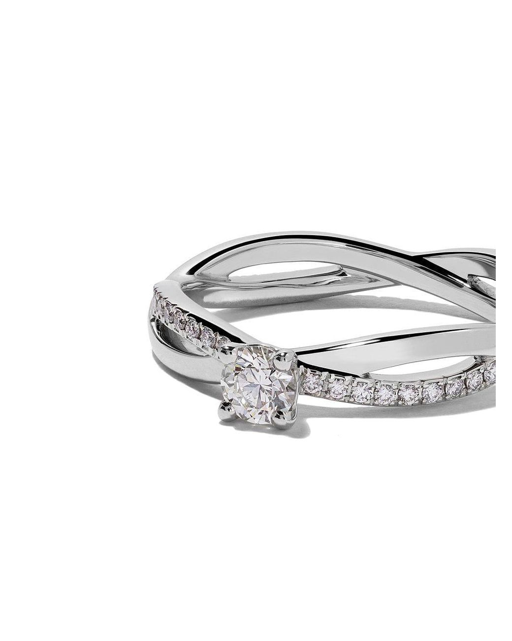 De Beers Platinum My First Infinity Solitaire Diamond Ring In