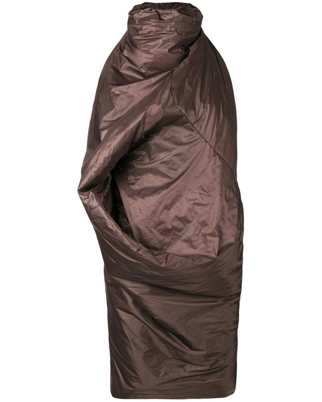 625ceeff0df3 Lyst - Rick Owens Sleeping Bag Dress in Brown