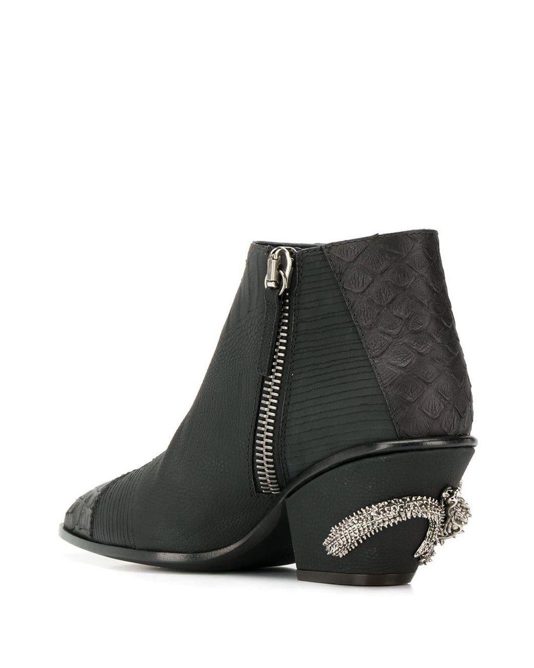 0aa120d024f64 Lyst - Giuseppe Zanotti Kevan Alligator Print Ankle Boots in Black