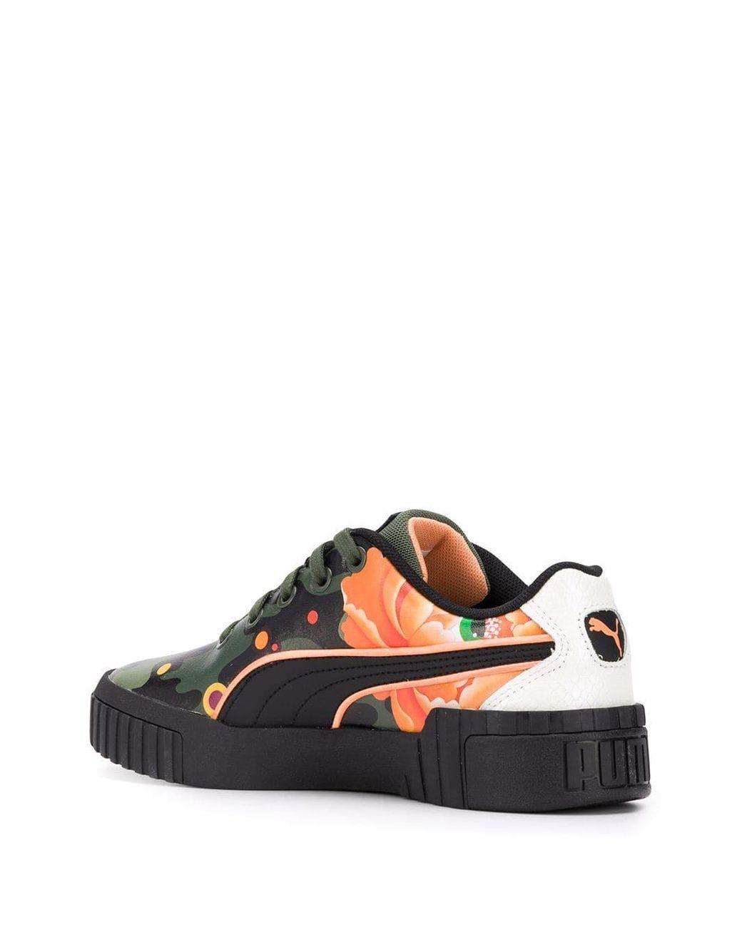 c16bcedf4d1 PUMA X Sue Tsai Cali Peonies Camo Sneakers in Black - Lyst