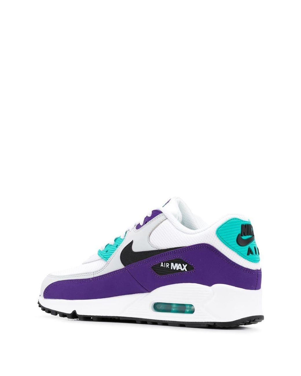 wholesale dealer 00ca3 988b4 Nike Air Max 90 Essential White  Black-hyper Jade-court Purple in White for  Men - Save 50% - Lyst