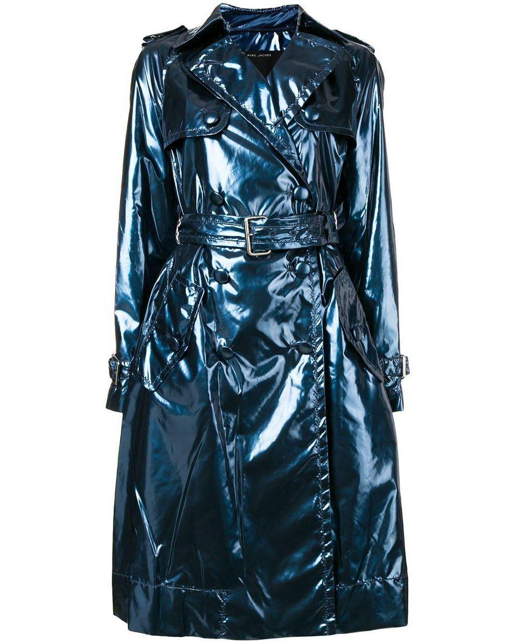 70f36f4a1 Women's Blue Vinyl Trench Coat