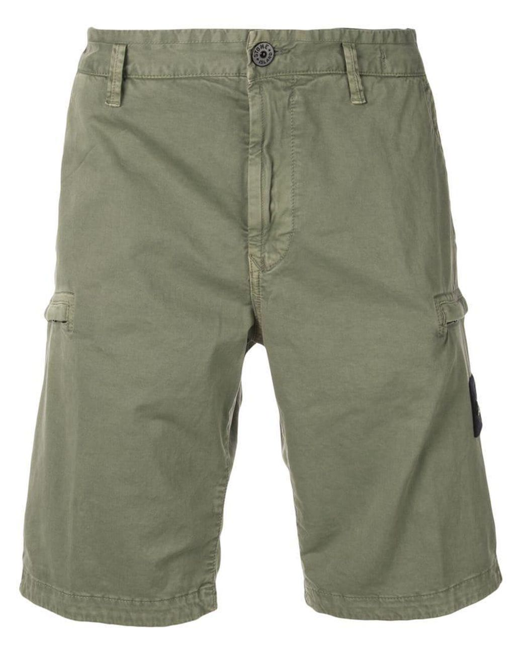 4699283b97 Lyst - Stone Island Logo Patch Cargo Shorts in Green for Men